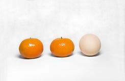 Ovo e laranja Fotos de Stock Royalty Free