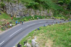 Ovo Energy Tour of Britain Stage Three. Cheddar Gorge, England Stock Photography