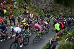 Ovo Energy Tour of Britain Stage Three. Cheddar Gorge, England Royalty Free Stock Photo