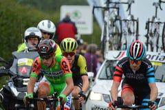 Ovo Energy Tour of Britain Stage Two. Bratton Fleming, Devon, E royalty free stock photo
