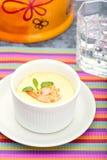 Ovo fluído com estilo tailandês do alimento do camarão fresco Imagem de Stock Royalty Free