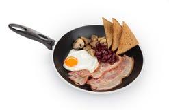 Ovo fritado com bacon Imagens de Stock Royalty Free