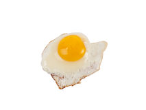 Ovo fritado isolado no branco Imagens de Stock