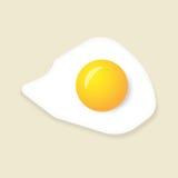 Ovo frito no fundo amarelo Ilustração do vetor Fotografia de Stock Royalty Free