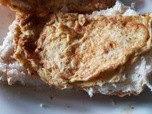 Ovo no pão Fotografia de Stock