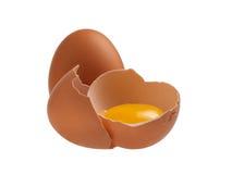 Ovo quebrado da galinha Imagem de Stock