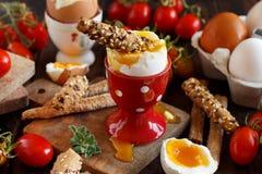 Ovo quente com pão torrado Imagem de Stock Royalty Free