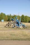 Ovoo em Mongolia Fotografia de Stock Royalty Free