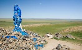 Ovoo en Mongolie Photo libre de droits