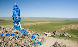 Ovoo In Mongolia Royalty Free Stock Photo
