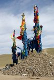 Ovoo in Mongolei Stockfoto