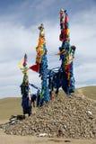 Ovoo in Mongolia Stock Photo