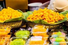 Ovos痣de阿威罗是从阿威罗区,葡萄牙的一个地方纤巧,由蛋黄和糖制成 免版税图库摄影