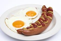 Ovos & salsicha Fotos de Stock