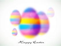 Ovos borrados coloridos para a celebração da Páscoa Foto de Stock