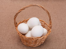Ovos brancos para a Páscoa imagens de stock royalty free