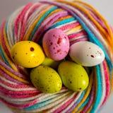 Ovos coloridos do ?ster fotografia de stock royalty free