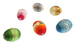 Ovos coloridos isolados Fotos de Stock