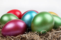 Ovos coloridos metálicos Imagem de Stock