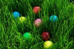 Ovos coloridos Páscoa Imagem de Stock