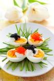 Ovos com caviar Foto de Stock