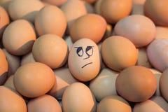 Ovos com os olhos que rolam a face fotografia de stock royalty free