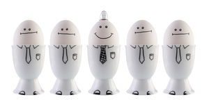 Ovos, conceito da faculdade criadora. Imagem de Stock Royalty Free