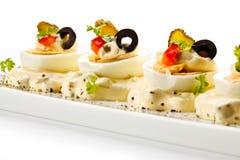 Ovos cozidos com maionese Foto de Stock Royalty Free
