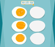 Ovos cozidos, cortados ao meio ilustração royalty free