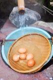Ovos cozidos macios Fotografia de Stock