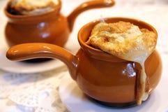 Ovos cozidos na cerâmica Imagem de Stock Royalty Free