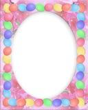 Ovos da beira de Easter Fotografia de Stock