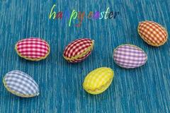 Ovos da coloração, fundo pintado, azul, verde, amarelo, vermelho, laranja, colorida, Imagem de Stock Royalty Free
