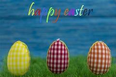 Ovos da coloração, fundo pintado, azul, verde, amarelo, vermelho, laranja, colorida, Imagens de Stock Royalty Free