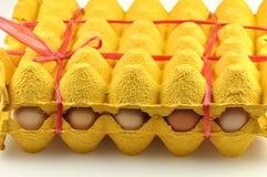 ovos da embalagem Fotografia de Stock