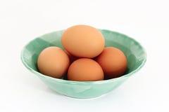 Ovos da galinha de Brown Foto de Stock Royalty Free