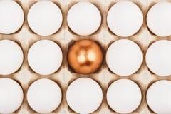 Ovos da galinha na bandeja Fotografia de Stock Royalty Free
