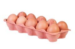 Ovos da galinha na caixa da caixa isolada. Fotografia de Stock Royalty Free