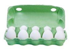 Ovos da galinha na caixa da caixa isolada. Fotografia de Stock