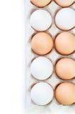 Ovos da galinha na caixa do ovo Imagem de Stock Royalty Free
