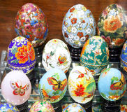 Ovos da páscoa bonitos para a venda Fotografia de Stock Royalty Free