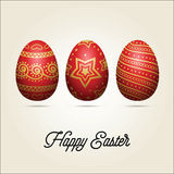 Ovos da páscoa Cartão do feriado Fotografia de Stock Royalty Free