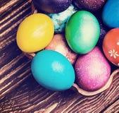 Ovos da páscoa coloridos Fotos de Stock Royalty Free