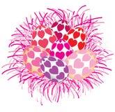 Ovos da páscoa coloridos bonitos isolados Imagem de Stock Royalty Free