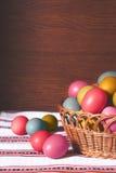 Ovos da páscoa coloridos cor pastel Foto de Stock