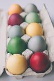 Ovos da páscoa coloridos cor pastel Imagens de Stock