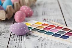Ovos da páscoa coloridos cor pastel Foto de Stock Royalty Free