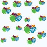 Ovos da páscoa coloridos do teste padrão Foto de Stock