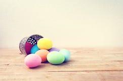 Ovos da páscoa coloridos do vintage Imagens de Stock Royalty Free