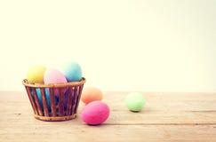 Ovos da páscoa coloridos do vintage Foto de Stock Royalty Free